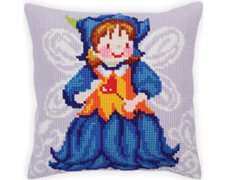 Kussenborduurpakket Fairy-Blue Bell - Collection d'Art