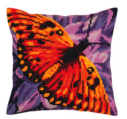 Kussen borduurpakket Butterfly - Collection d'Art