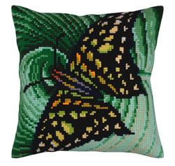 Kussenborduurpakket Butterfly - Collection d'Art