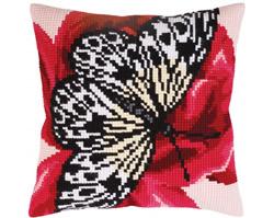 Kussenborduurpakket Butterfly graphics - Collection d'Art