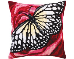 Kussenborduurpakket Butterfly graphics - Collection d'Art