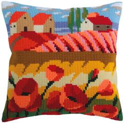 Kussen borduurpakket Poppy Field - Collection d'Art