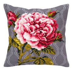 Kussenborduurpakket Tender Rose - Collection d'Art