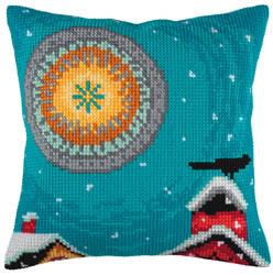Kussen borduurpakket Winter Sun - Collection d'Art