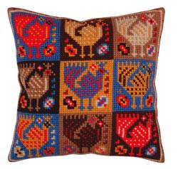 Kussen borduurpakket Ornament - birds - Collection d'Art