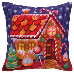 Kussenborduurpakket Gingerbread Lodge - Collection d'Art