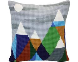 Kussen borduurpakket Mountaintops - Collection d'Art