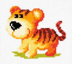 Borduurpakket Tiger cub - Chudo Igla (Magic Needle)