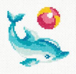 Borduurpakket Dolphin - Chudo Igla (Magic Needle)