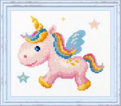 Borduurpakket Rainbow Unicorn - Chudo Igla (Magic Needle)