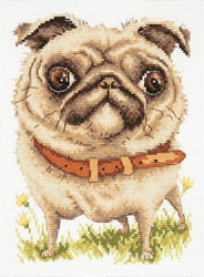 Borduurpakket Pug-dog - Chudo Igla (Magic Needle)