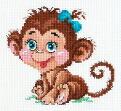 Borduurpakket Charming monkey - Chudo Igla (Magic Needle)