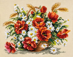 Borduurpakket Bouquet of wildflowers - Chudo Igla (Magic Needle)