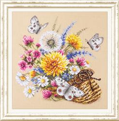 Borduurpakket Meadow Flowers - Chudo Igla (Magic Needle)