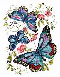 Borduurpakket Blue butterflies - Chudo Igla (Magic Needle)