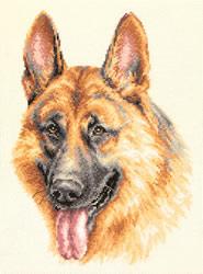 Borduurpakket German Shepherd - Chudo Igla (Magic Needle)