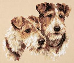 Borduurpakket Fox Terriers - Chudo Igla (Magic Needle)