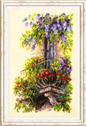 Borduurpakket Blossoming Balcony - Chudo Igla