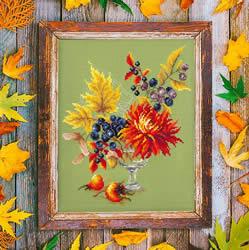 Borduurpakket Autumn bouguet - Chudo Igla
