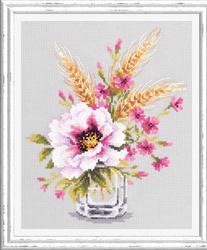 Borduurpakket Poppy and Maiden Pinks - Chudo Igla