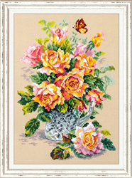 Borduurpakket Tea roses - Chudo Igla (Magic Needle)