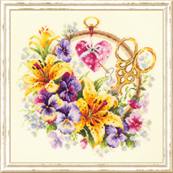 Borduurpakket Lilies for needlewoman - Chudo Igla (Magic Needle)