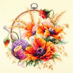 Borduurpakket Poppies for Needlewoman - Chudo Igla (Magic Needle)