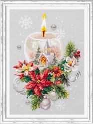 Borduurpakket Christmas Candle - Chudo Igla