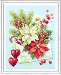Borduurpakket Merry Christmas! - Chudo Igla
