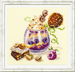 Cross stitch kit Chocolate Dessert - Chudo Igla