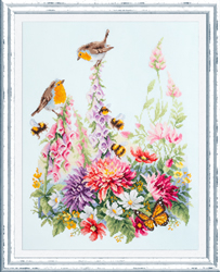 Cross stitch kit Singing Robins - Chudo Igla