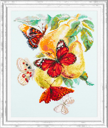 Borduurpakket Butterflies and Pears - Chudo Igla
