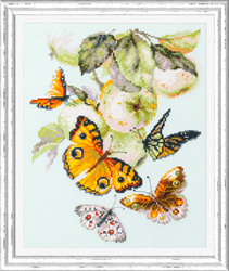 Borduurpakket Butterflies and Apples - Chudo Igla