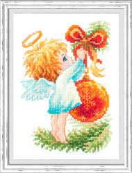 Borduurpakket Christmas Angel - Chudo Igla