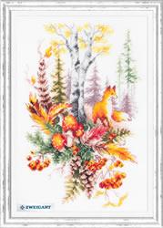 Borduurpakket Autumn Forest Spirit - Chudo Igla
