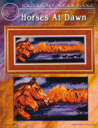 Borduurpatroon Wildlife Panorama Horses at Dawn - Cross My Heart