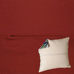 Kussenrug 45 x 45 cm Bordeaux - Duftin