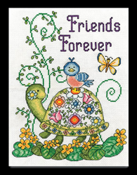 Borduurpakket Friends Forever (Turtle) - Design Works