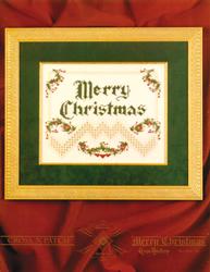 Hardangerpatroon Merry Christmas - Emie Bishop