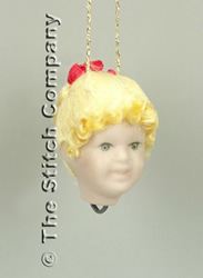 Handgemaakt porceleinen hoofdje klein, blond haar - Emie Bishop