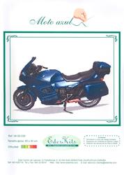 Borduurpatroon Moto Azul - Eder
