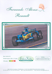 Borduurpatroon Fernando Alonso Renault - Eder