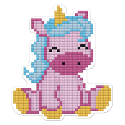 Diamond Painting Cute Unicorn Magnet - Freyja Crystal