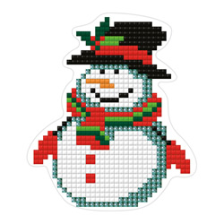 Diamond Painting Snowman Magnet - Freyja Crystal