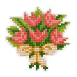 Diamond Painting Flowers Magnet - Freyja Crystal