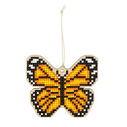 Diamond Painting Wooden Pendant - Butterfly - Freyja Crystal