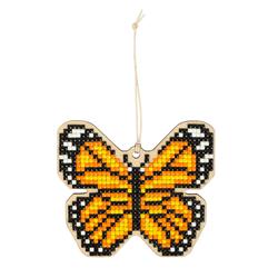 Diamond Painting Wooden Pendant - Butterfly - Freyja Crystal