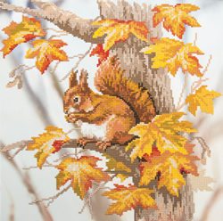 Diamond Painting Squirrel on a Branch - Freyja Crystal