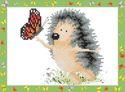 Diamond Painting Hedgehog with a Butterfly - Freyja Crystal