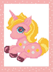 Diamond Painting Pink Unicorn - Freyja Crystal